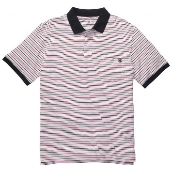 Pocket Polo - Red/Navy Stripe
